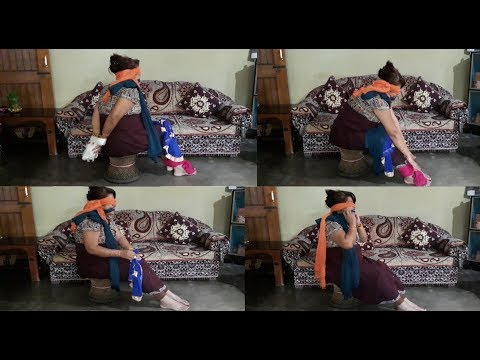 Blindfold hogtie escape challenge video   Requested video   Funny video....