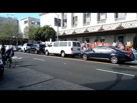 San Francisco Dali Lama Protest
