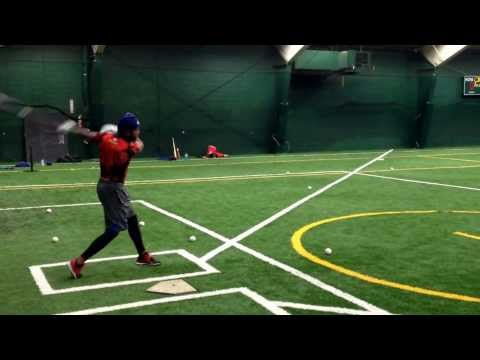 Jose Reyes winter training at The Long Island Sports Complex 2014