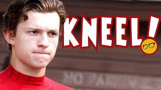 Spider-Man's Tom Holland Kneels to The Access Media