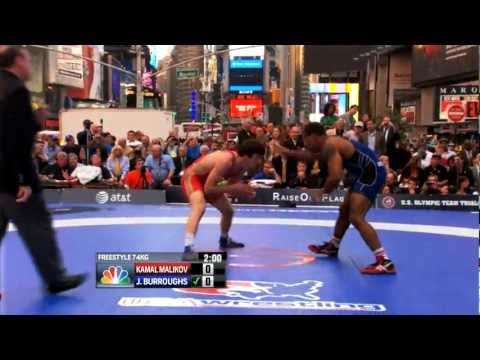 2012 Beat the Streets - 74KG - Jordan Burroughs (USA) vs Kamal Malikov (RUS)