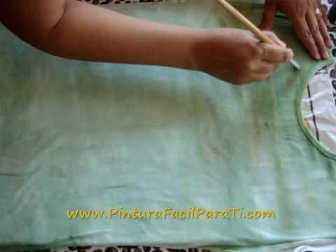 Tutorial Como Pintar Camisetas Paint Tshirt Pintura en Tela Painting Tshirt Pintura Facil Para Ti
