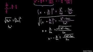 Dokaz in izpeljava kvadratne enačbe