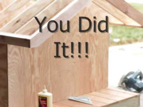 Dog house plans for large and small dogs youtube - Small dog house blueprints ...