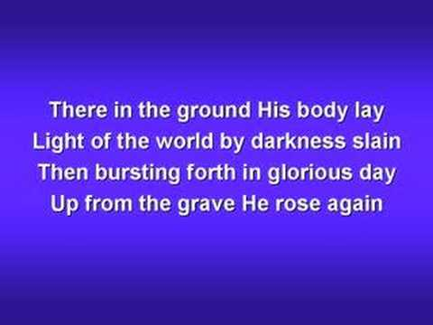 In Christ Alone (worship video w/ lyrics)