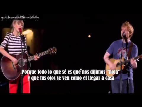 Taylor Swift ft Ed Sheeran - Everything has changed (subtitulada en español)