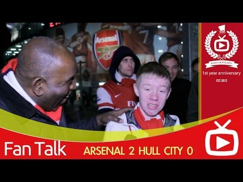 Arsenal FC 2 Hull City 0 - Fan Refuses To Give (Super Nick) Nicklas Bendtner Credit