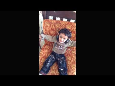 1 Year Old Kid Singing a Song and Dancing
