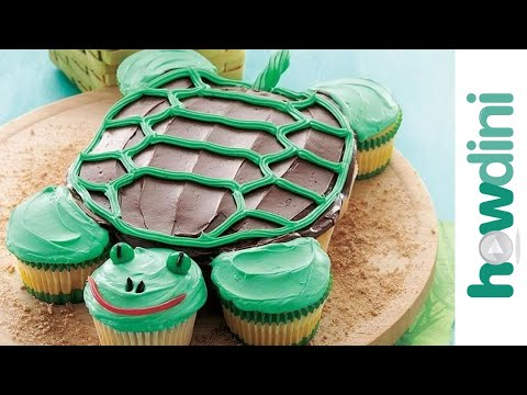 Cake Designs How To Make : Birthday Cake Ideas: How to Make a Fun Turtle Cupcake Cake ...