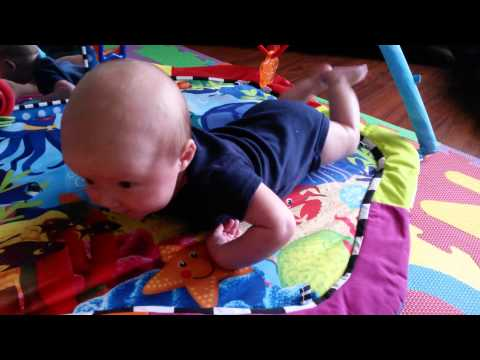 Baby Damon rolls over!