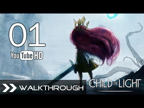 Child of Light Walkthrough Gameplay - Part 1 (Queen of the Night - Boss Fight) HD 1080p PC PS4 PS3 PSN Xbox One 360 Wii U No Commentary