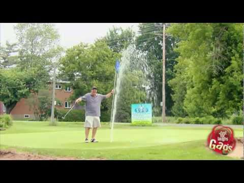 Gushing Water Pipe On Golf Course