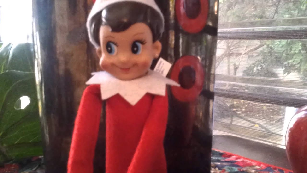 Elf on The Shelf Caught Moving - YouTube