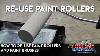 Paint brush and roller care