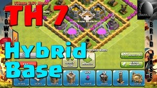 Clash Of Clans: Town Hall 7 Hybrid Base (v 5.6)