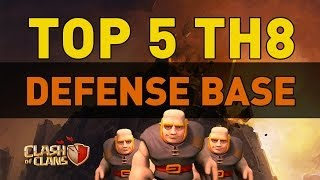 Clash Of Clans TOP 5 TH8 Defense Bases