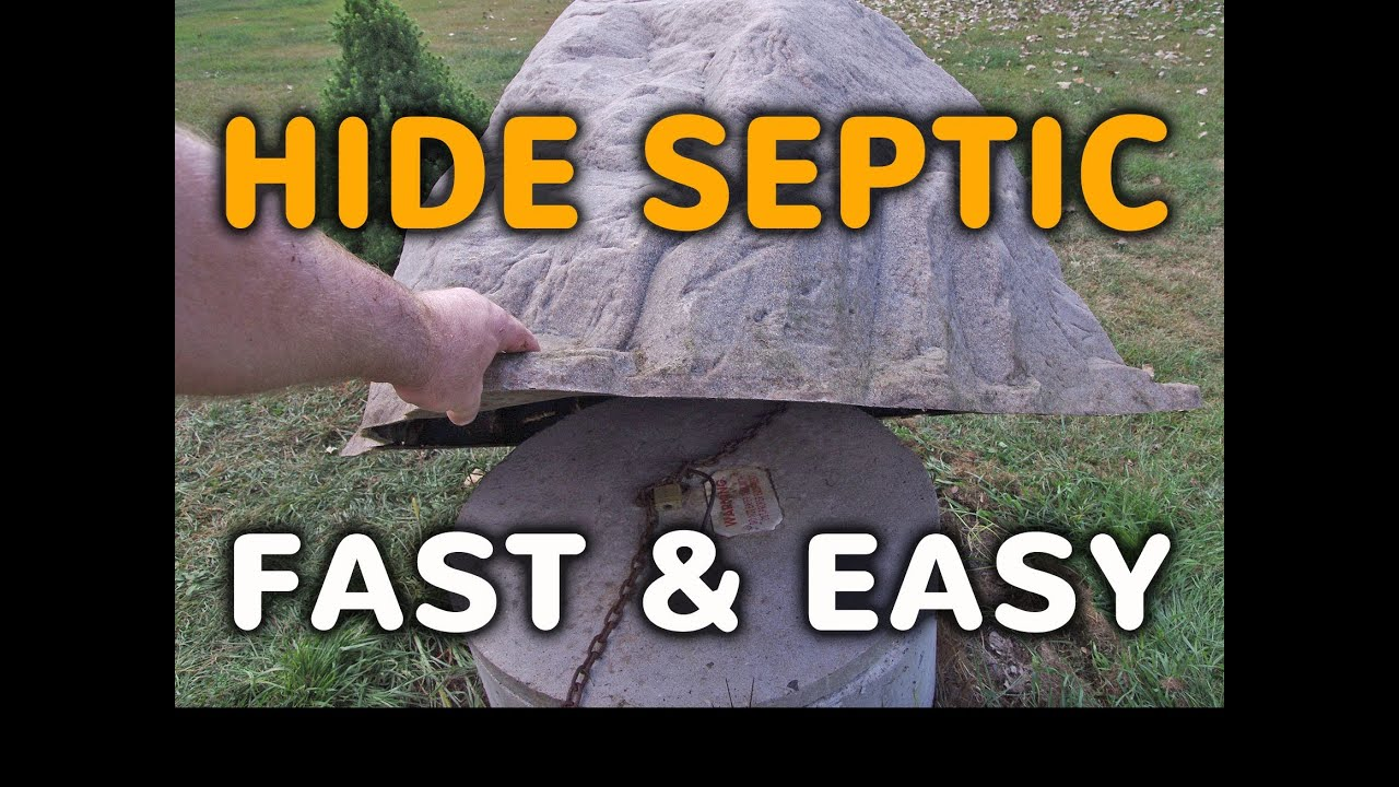 How To Hide A Septic Tank Cover Fast Fake Rock Septic