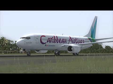 FSX Spotting Test| Caribbean Airlines Departing St.Maarten
