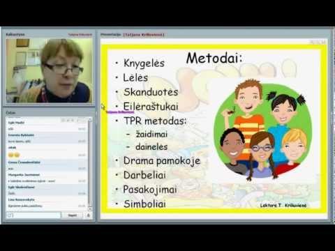 2012.10.15 Tatjana Kriliuvienė Aktyvūs anglų kalbos mokymo(-si) būdai ankstyvajame ugdyme