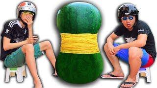 NTN - Thử Buộc 1.000 Dây Chun Vào Quả Dưa Hấu ( Rubberband vs Watermelon )