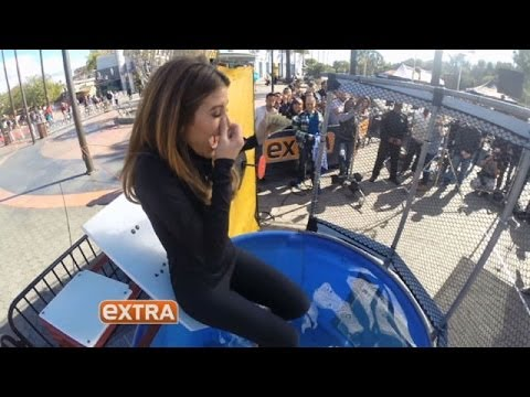 Maria Menounos Loses Super Bowl Bet and Gets Dunked!