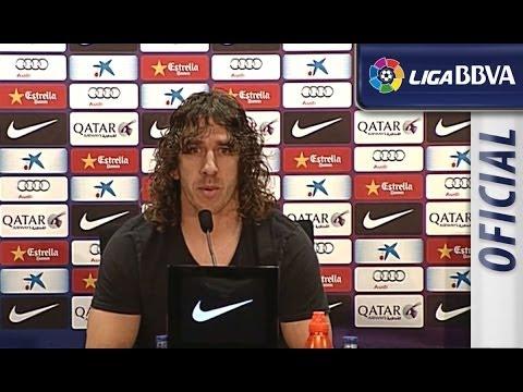 Rueda de Prensa de Carles Puyol: