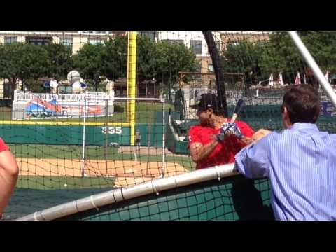 Joey Gallo takes BP with RoughRiders