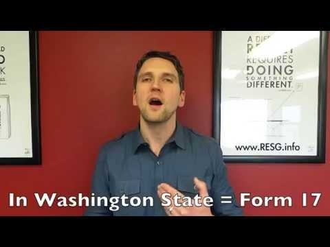 When is a Property Disclosure Statement Required? Washington Form 17