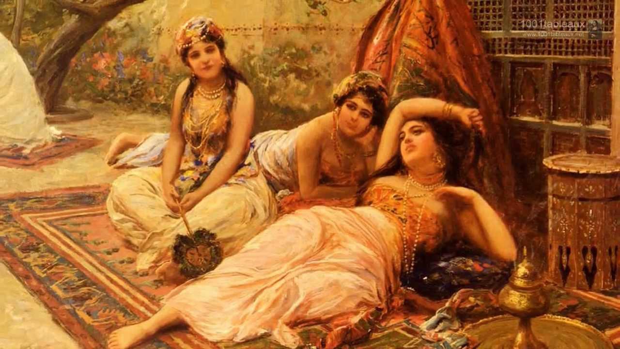 les filles du harem par le peintre italien fabio fabbi youtube. Black Bedroom Furniture Sets. Home Design Ideas