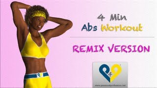 4 dakikada karın kasları egzersizi - kadınlar için