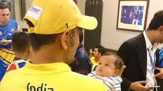 IANS - Watch: MS Dhoni's daughter in CSK dressing room