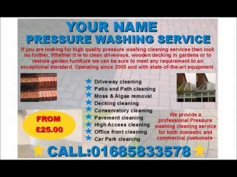 Pressure Washing Flyer 28 Images Elegant Playful Flyer Design
