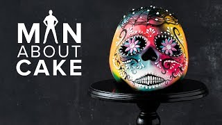 #CakeSlayer Halloween: SUGAR SKULL CAKE | Man About Cake with Joshua John Russell