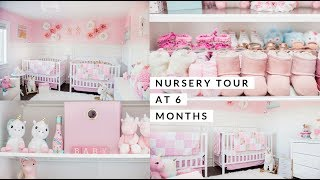 NURSERY TOUR AT 6 MONTHS OLD! TWIN GIRLS💕 SLMissGlamVlogs