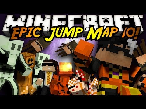Minecraft: Epic Jump Map Halloween Part 2!