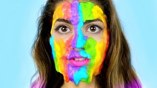 DIY Rainbow Slime Peel Off Face Mask