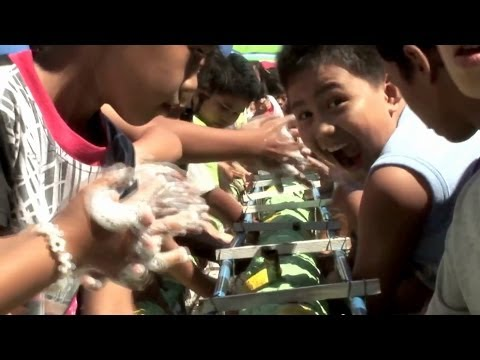 In the Philippines, returning to school following Typhoon Haiyan