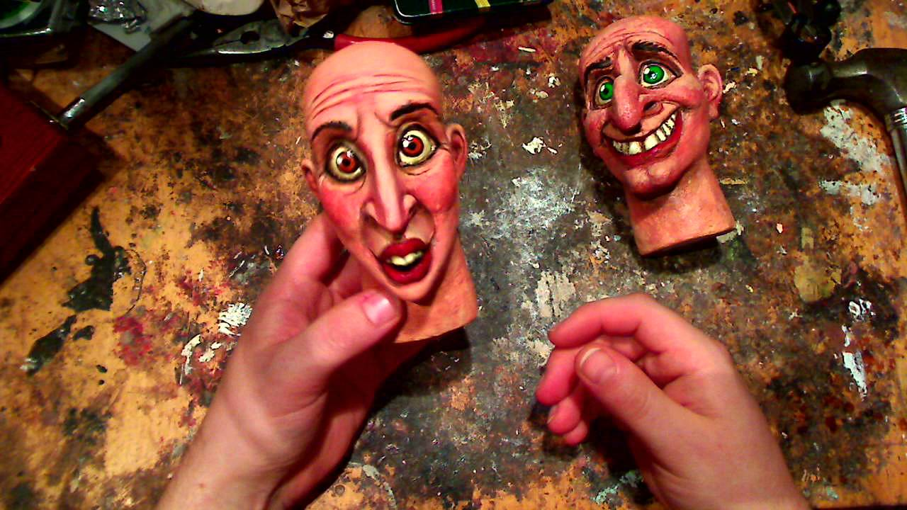 paper mache puppet heads strength test youtube