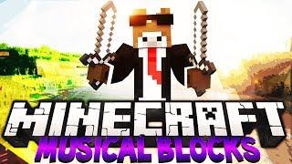 "Minecraft ""MUSIC OUTSIDE OF MINECRAFT"" MUSICAL BLOCKS Server Minigame"