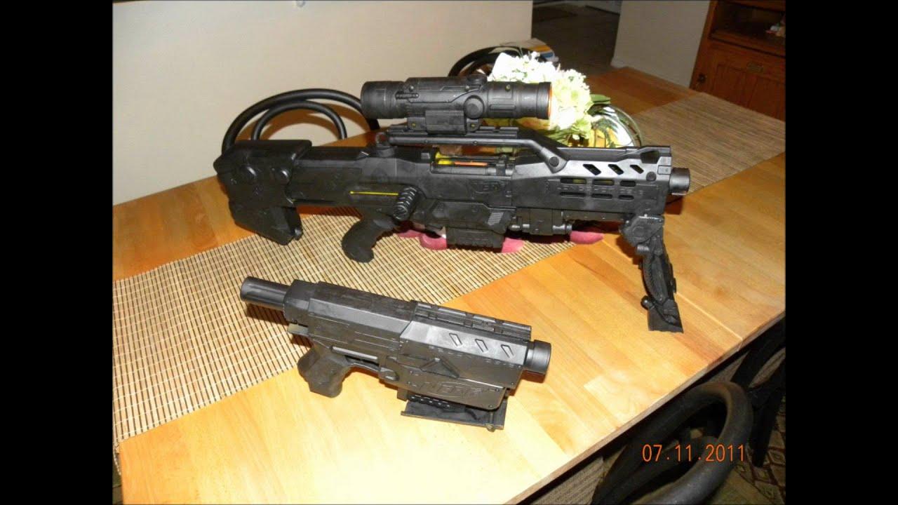 spray painted nerf gun youtube. Black Bedroom Furniture Sets. Home Design Ideas