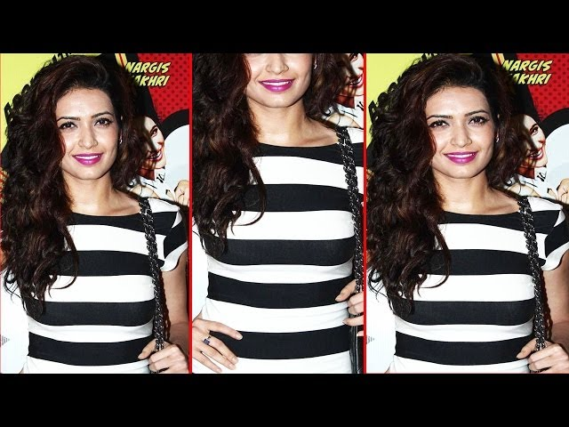 Hot Karishma Tanna In Zebra Look Black & White Dress