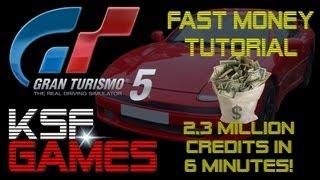 NEW GT5 Fast Money Tutorial 2.3 Million Credits In 6 Min