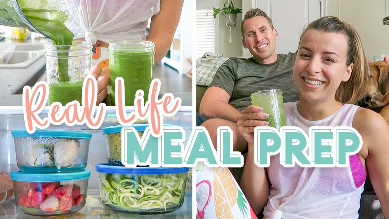 Real Life Couples Sunday Meal Prep + Homemade Nut Milk Recipe!