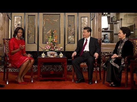 Michelle Obamab betreibt Ping-Pong-Diplomatie