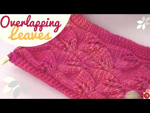Overlapping Leaves Knit Stitch (REVISED)