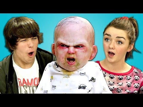 TEENS REACT TO DEVIL BABY ATTACK (ft. Maisie Williams)