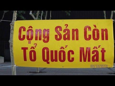 Biểu Tình trước Tòa Đại Sứ Mỷ  tại Sài Gòn 29 4 2014