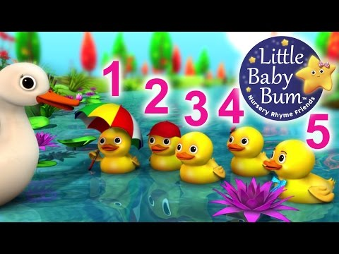 Five Little Ducks | NEW VIDEO | Nursery Rhymes | HD Version
