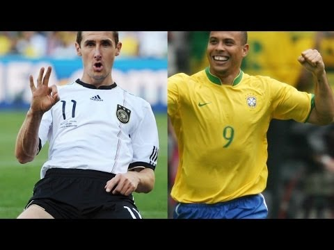 Ronaldo . Klose - The Scorers of world Cup - All Goals  - 2014