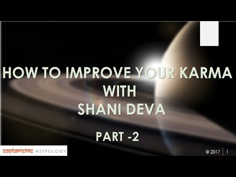 How To Improve Our Karma With SHANI DEVA - Part 2
